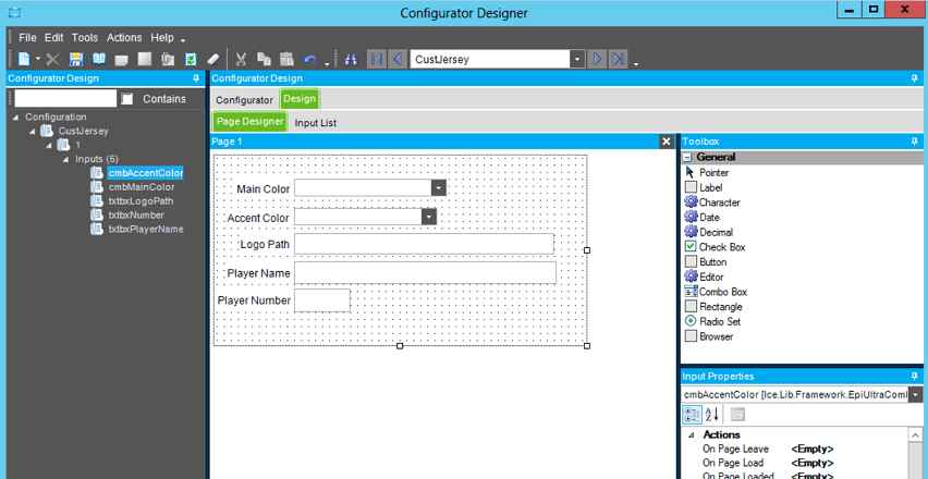 epicor product configurator development