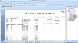 Sales Order Backlog